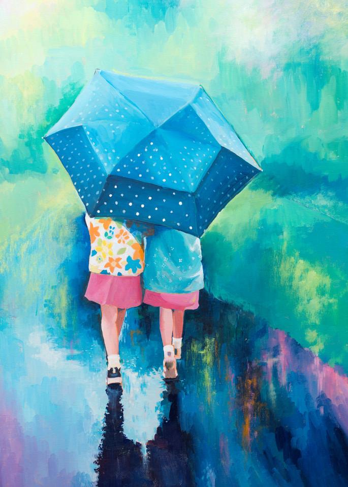Art Print Children In The Rain