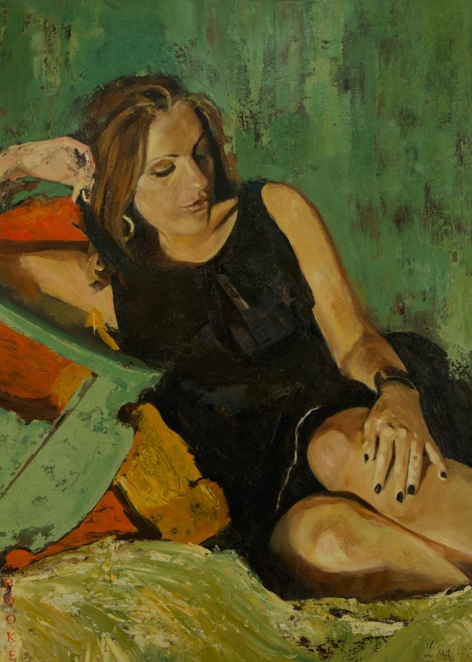 Monica, original oil painting portait and art print from artist Booker Tueller