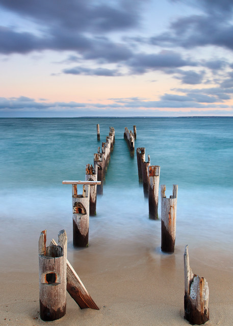 Out to Sea II - Fine Art Cape Cod Beach Photography Print by Katherine Gendreau