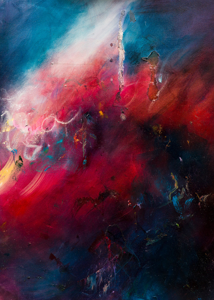 The Uproar - Contemporary Abstract Ocean Painting   Samantha Kaplan