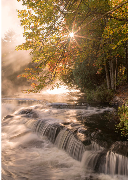A magical autumn morning at Bond Falls