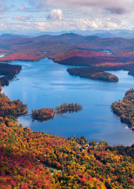 Big Moose Lake Fall Aerial Photography Art | Kurt Gardner Photogarphy Gallery