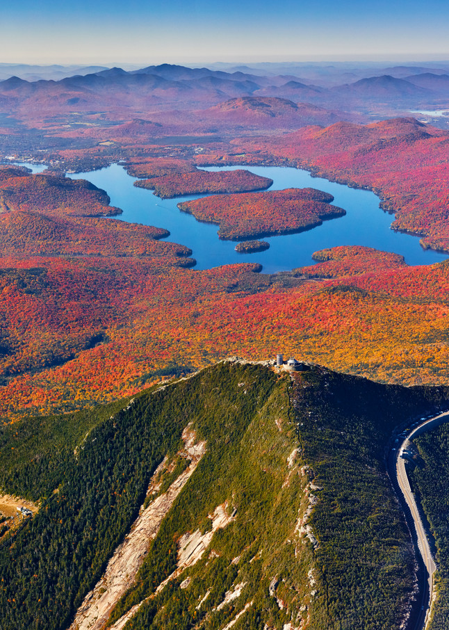 Whiteface Mt And Lake Placid Fall Aerial Photography Art | Kurt Gardner Photogarphy Gallery