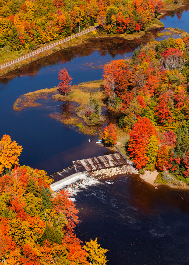 Lock and Damm Fall Aerial photograph.