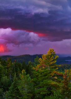 View Of 4th Lake Storm Panoramic Photography Art | Kurt Gardner Photogarphy Gallery