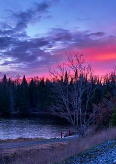 Little Safford Pond Sunset Panoramic Photography Art | Kurt Gardner Photogarphy Gallery