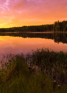 Twin Ponds Sunrise Panoramic Photography Art | Kurt Gardner Photogarphy