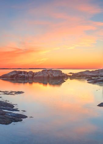 """Annisquam Sunset Panorama II"" Fine Art Gloucester MA Lighthouse Panoramic Photography"