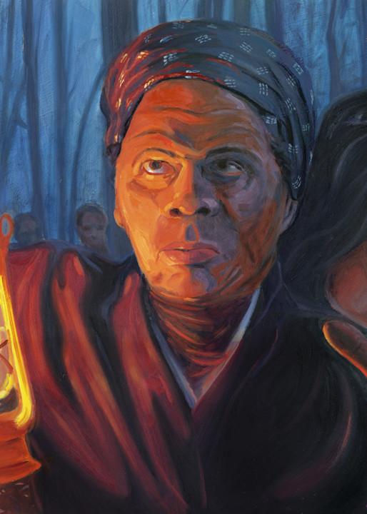 Harriet Tubman painting by Steve Simon
