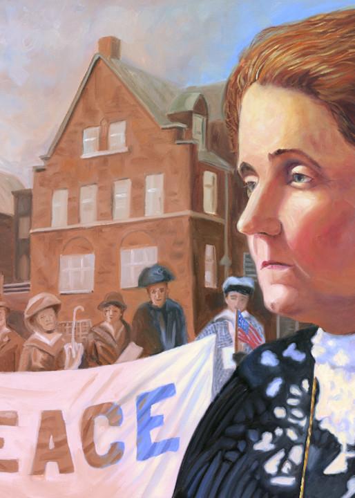 Oil painting portrait of Jane Addams by Steve Simon