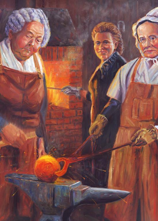 Painting of Suffragists Elizabeth Cady Stanton, Matilda Joslyn Gage, and Lucretia Mott by Steve Simon