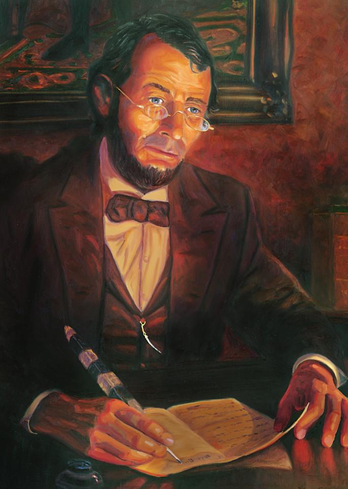 Abraham Lincoln Portrait Painting by Steve Simon