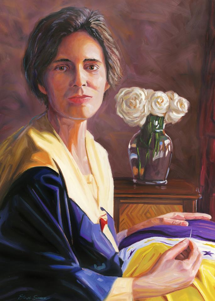 Oil painting portrait of Alice Paul by Steve Simon