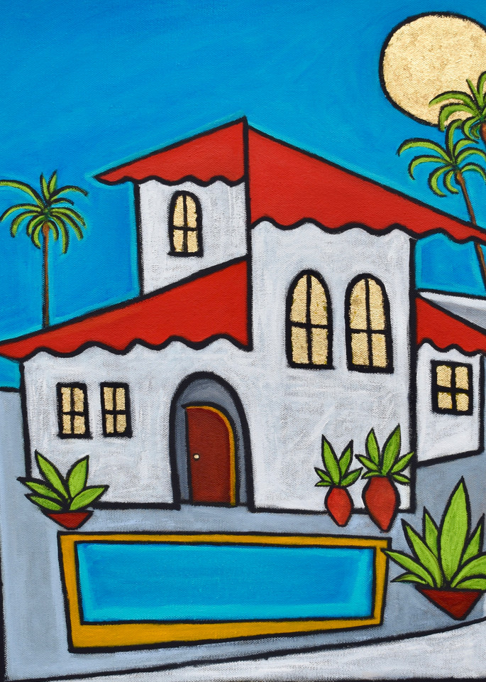 Spanish Villa Painting by Wet Paint NYC Artist Paul Zepeda