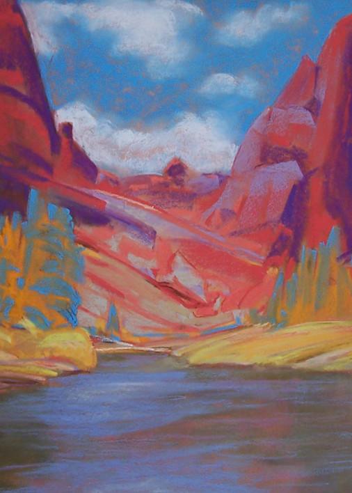 landscape painting central oregon smith rock
