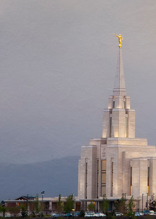 Oquirrh Mountain Temple - Evening Storm Wide Panoramic