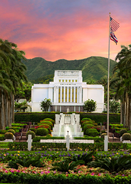 Laie Hawaii Temple - Blossoming Spring