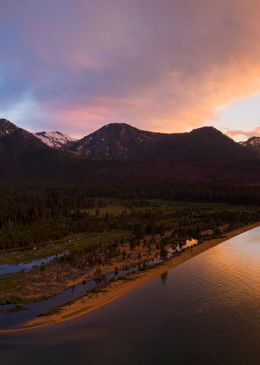 Tahoe Summer Solstice Sunset Aerial Fine Art Photography Print by Brad Scott