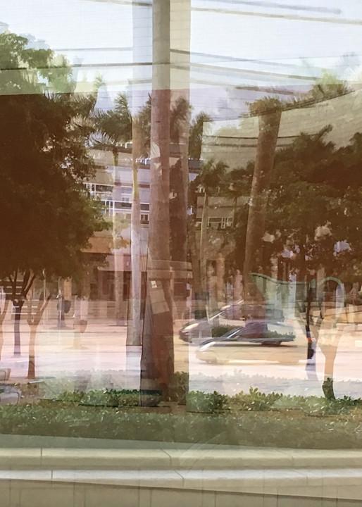 Excellent Miami Reflection Photo for Sale. Richard London