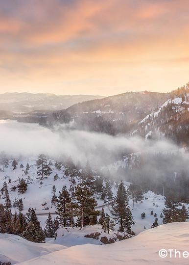Donner Lake winter overlook Mt Rose
