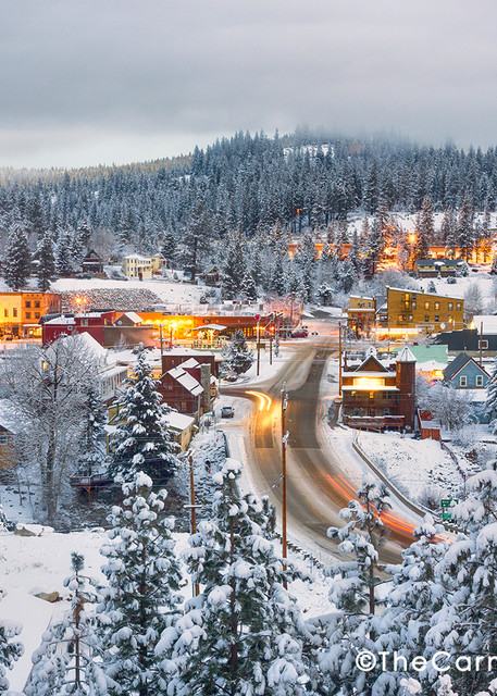 Downtown Truckee California Winter Lights