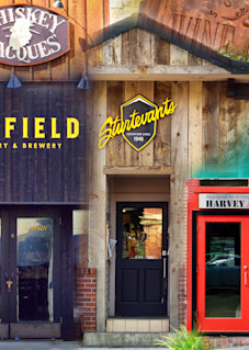 Ketchum Sun Valley Street Level - Collage - Fine Art Prints on Metal, Canvas, Paper & More By Kevin Odette Photography