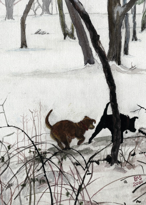 Dogs: Like Mother Like Son Art | Blissful Bonita Art Studio & Gallery