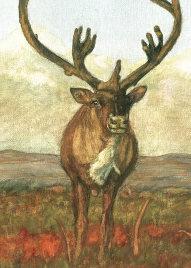 Caribou Standing Tall Art | Blissful Bonita Art Studio & Gallery