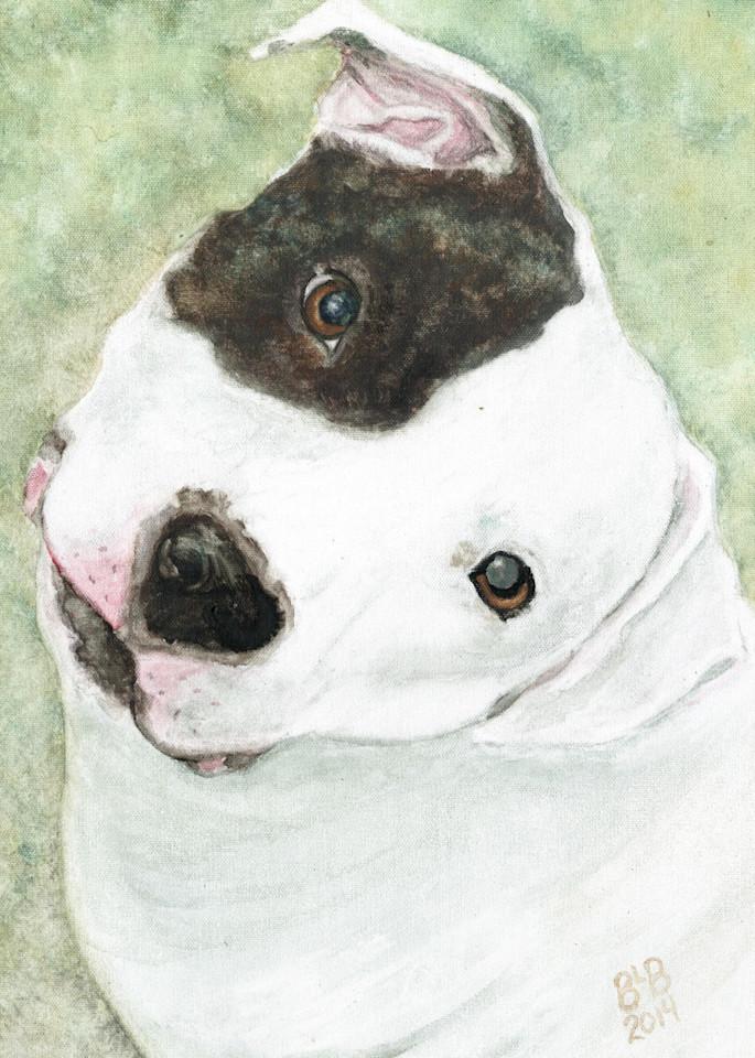 Minnie Precious Pit Bull Art   Blissful Bonita Art Studio & Gallery