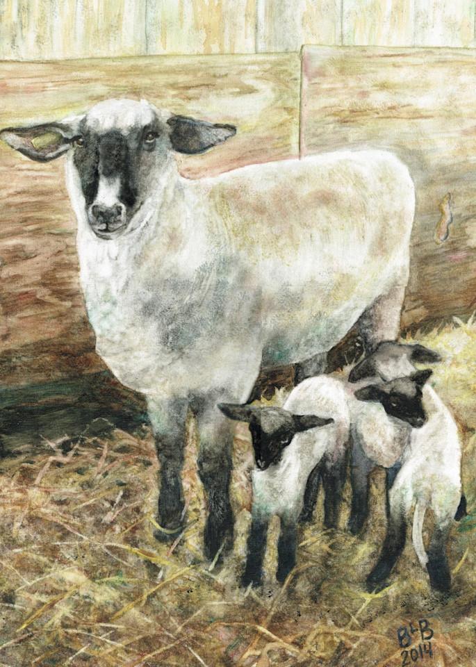 Shropshire Triplets Art   Blissful Bonita Art Studio & Gallery