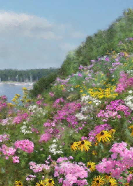 Judy's View, wall art. A print of an original painting by the artist, Mary Ahern.