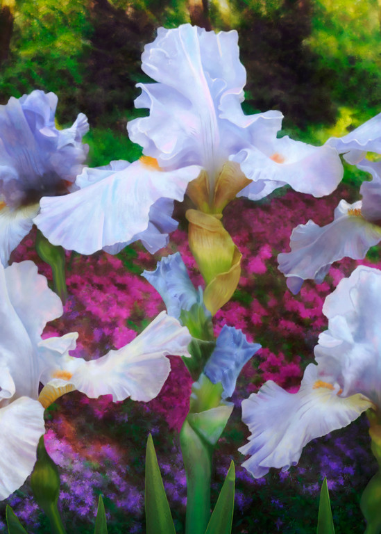 The Dance in the Garden, wall art. A print of an original painting by the artist, Mary Ahern.