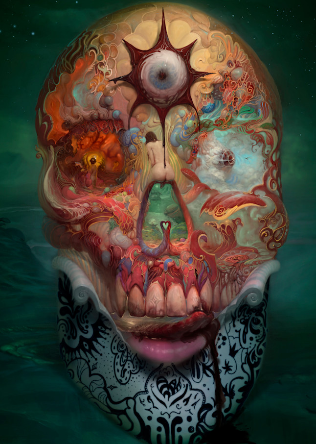 """SKULL,"" by Burton Gray - A Phantasmagoric Master Piece"