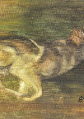 Wolf In Pursuit Art | Blissful Bonita Art Studio & Gallery