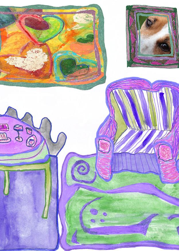 Purple Room With Art