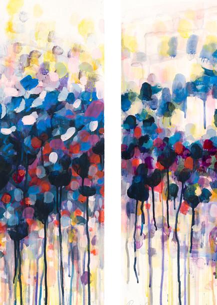 New Spring Diptych   Paper Art   Caroline Wright Art