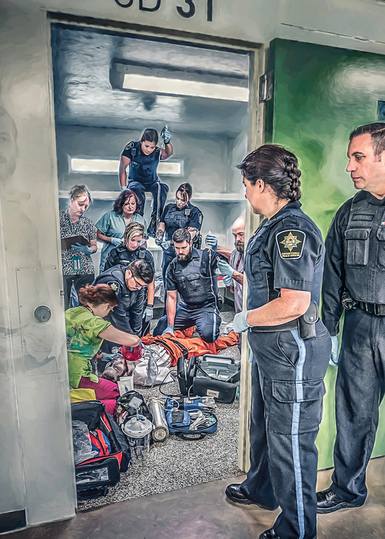 Inmate Arrest Art   DanSun Photo Art