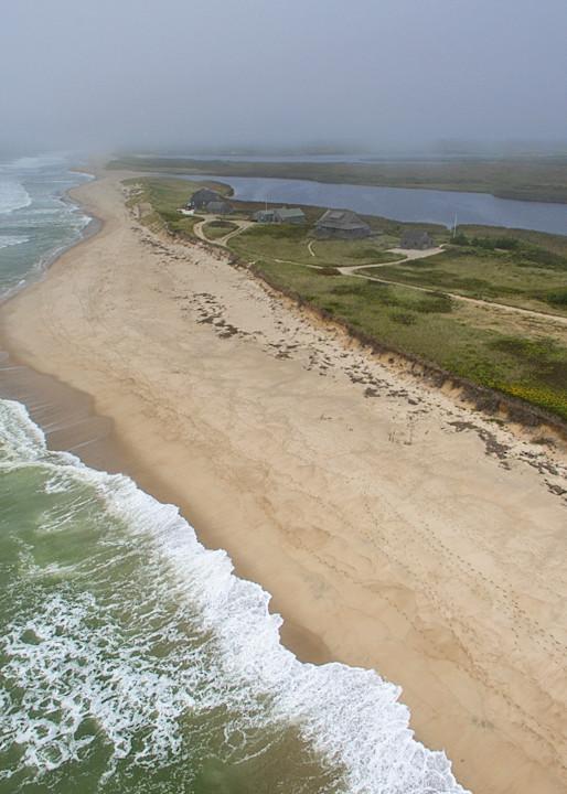 """Cisco Beach Hurricane Waves"" Nantucket Aerial Fine Art Photograph"
