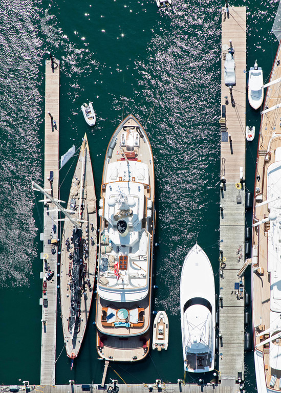 """Newport Yachts at the Dock"" Newport RI Nautical Photography"