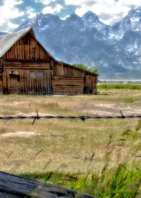 Fenced Moulton Barn Photography Art | Images2Impact