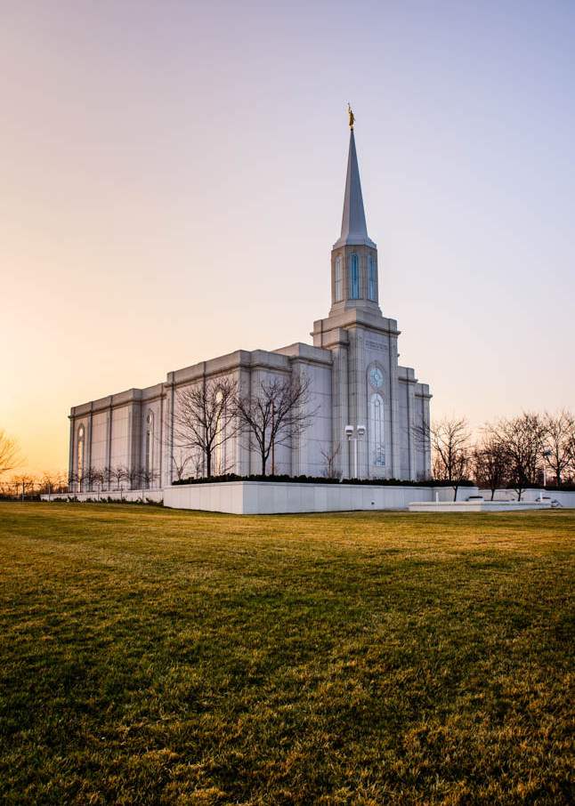 St Louis Temple - Grassy Sunset