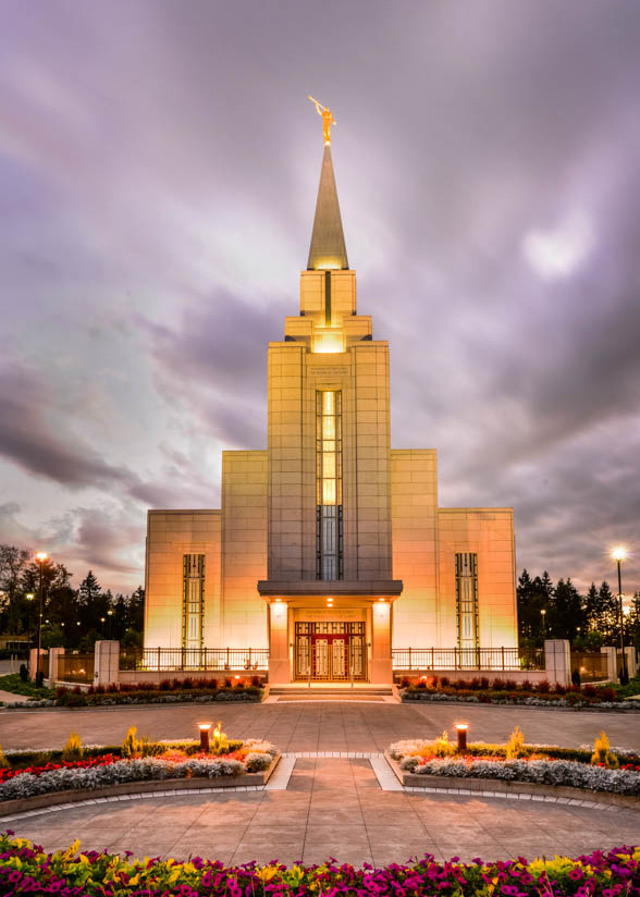 Vancouver LDS Temple - Twilight