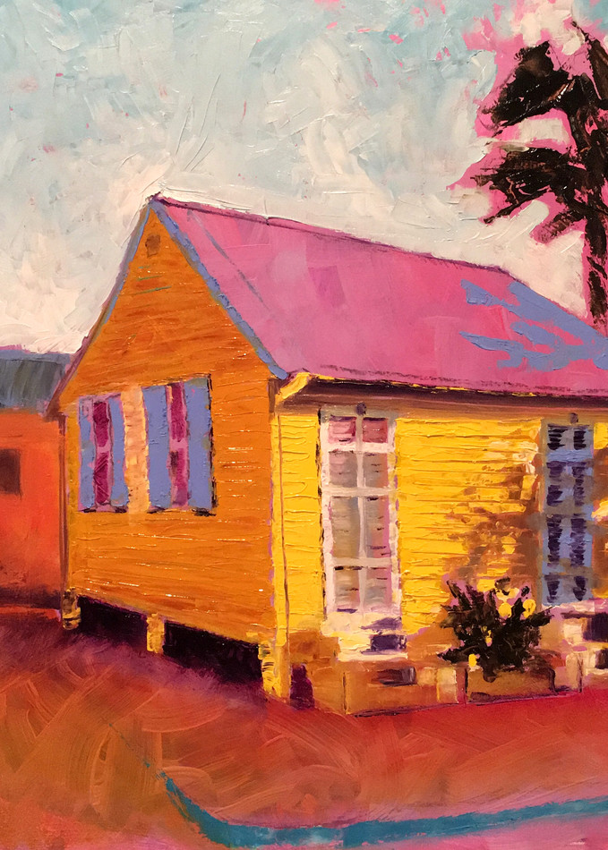 Abstract New Orleans Shack | Fine Art Print Painting by Rick Osborn