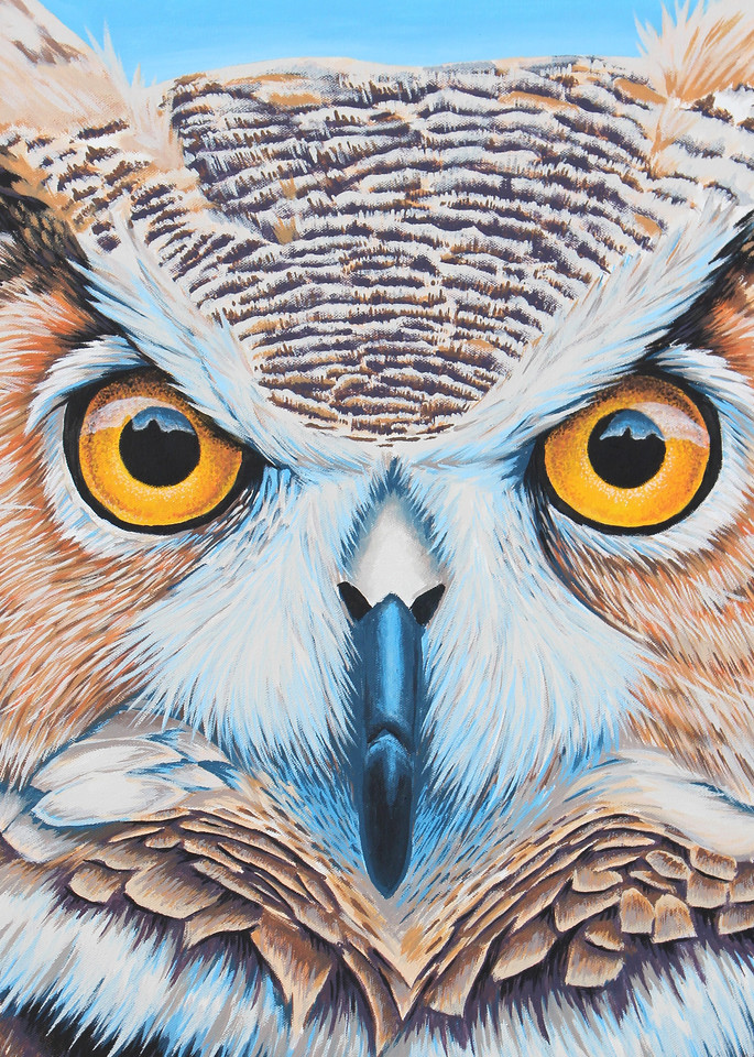 Wise Old Owl Painting - Animal Art by Zak D. Parsons