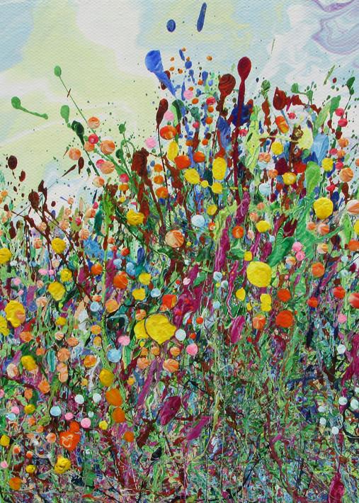 Together We Thrive/Abstract Wildflowers Art/En Chuen Soo