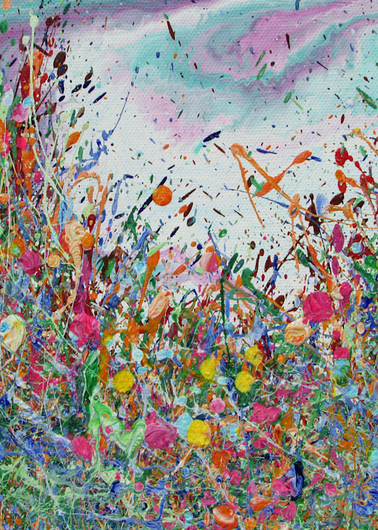 Delighted/Abstract Flowers Art/En Chuen Soo
