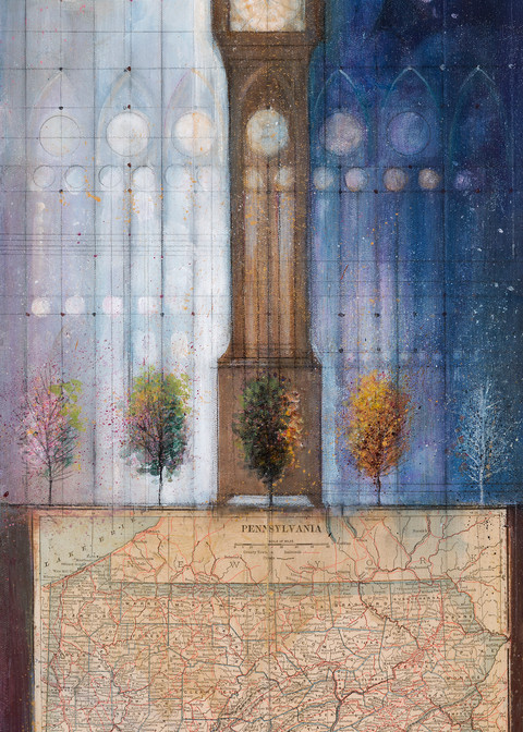 Pennsylvania; Clock And Seasons Art | Freiman Stoltzfus Gallery