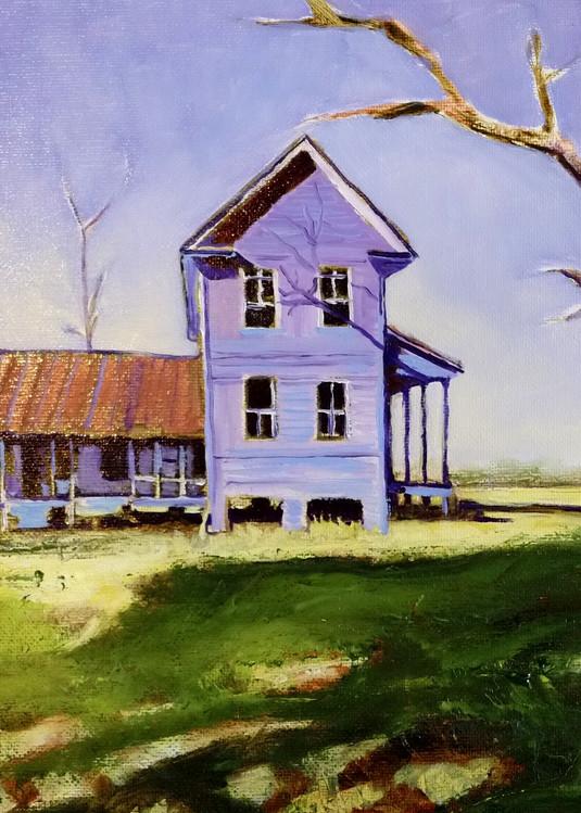Old VA Home Place | Original Print of Southern VA Farmhouse