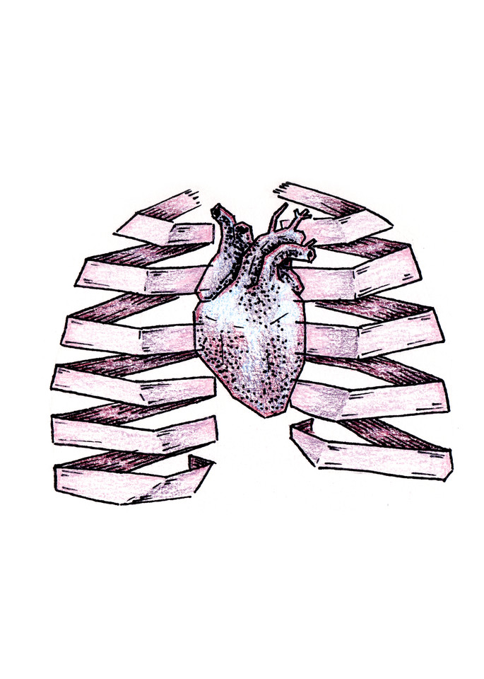 Frozen Heart, Paper Lungs - Drawing | Art & Paintings by Zak D. Parsons