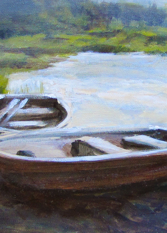 Pond Row Boats #2 Art | Charles Wallis